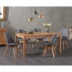 Oxford 150cm Solid Oak Dining Table with Duke Fabric Chairs