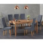 Oxford 150cm Solid Oak Dining Table with Juliette Chairs