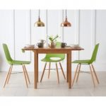 Oxford 70cm Solid Oak Extending Dining Table with with Nordic Wooden Leg Chairs