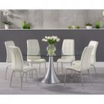 Paloma 180cm Oval Glass Dining Table with Calgary Chairs