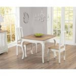 Parisian 90cm Shabby Chic Dining Table with Chairs