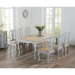 Parisian 175cm Grey Shabby Chic Dining Table with Chairs