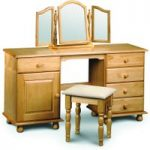 Pioneer Solid Pine Double Pedestal Dressing Table Set