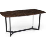 Brown Marble Dining table with iron legs