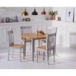 Amalfi Oak and Grey Extending Dining Table with Chairs