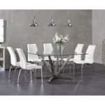Reno Square Glass Dining Table with Cavello Chairs