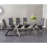Renzo 200cm Glass Dining Table with Hampstead Z Chairs