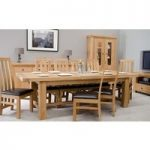 Rondeau Solid Oak Grand Extending Dining Table