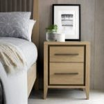 San Leo Weathered Oak 2 Drawer Bedside Cabinet