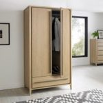 San Leo Weathered Oak 2 Door Wardrobe