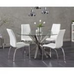 Rio Round Glass Dining Table with Cavello Chairs