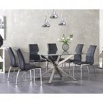 Rio Square Glass Dining Table with Cavello Chairs