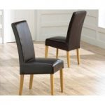 Normandy Bonded Leather Dining Chairs