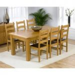 Normandy 180cm Solid Oak Extending Dining Table with Vermont Chairs