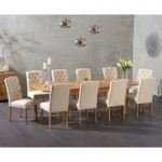 Somerset 180cm Oak Extending Dining Table with Claudia Fabric Chairs