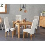 Somerset 90cm Flip Top Oak Dining Table with Juliette Chairs