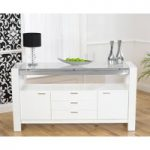 Ex-Display Cannes 160cm High Gloss White Sideboard