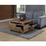 Kotka Oak 4 Door Storage Coffee Table