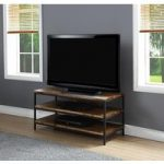 Kolding Oak and Steel Widescreen Open TV Stand
