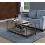 Kolding Oak and Steel Open Coffee Table