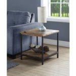 Kolding Oak and Steel Lamp Table