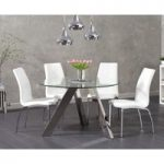 Tamara 120cm Round Glass Table with Cavello Chairs