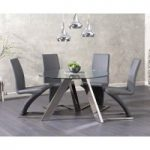 Tamara 120cm Round Glass Table with Hampstead Chairs