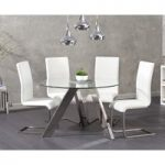 Tamara 120cm Round Glass Table with Malaga Chairs