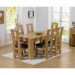 Thames 150cm Oak Dining Table with Louis Chairs