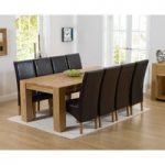 Thames 220cm Oak Dining Table with Cannes Chairs
