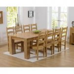 Thames 220cm Oak Dining Table with Vermont Chairs