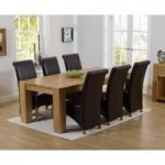 Thames 220cm Oak Dining Table with Kentucky Chairs