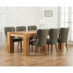 Thames 220cm Oak Dining Table with Knightsbridge Fabric Chairs