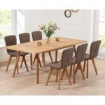 Tivoli 150cm Retro Oak Extending Dining Table and Chairs