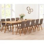 Tivoli 200cm Retro Oak Extending Dining Table and Chairs