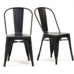 Tolix Industrial Style Black Dining Chairs