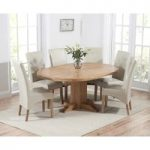 Torino Solid Oak Extending Pedestal Dining Table with Cannes Chairs