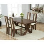 Bordeaux 165cm Dark Oak All Sides Extending Table with Toronto Chairs