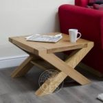 Milan Solid Oak X-Leg 2 x 2 Coffee Table