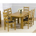 Normandy 120cm Solid Oak Extending Dining Table with Vermont Chairs