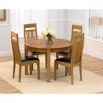 Verona 110cm Solid Oak Round Dining Table with Monaco Chairs