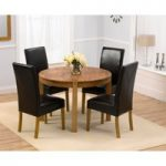 Verona 110cm Solid Oak Round Dining Table and Normandy Chairs