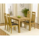 Verona 120cm Solid Oak Extending Dining Table with Monaco Chairs