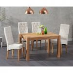 Verona 120cm Solid Oak Dining Table with Juliette Chairs