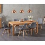 Verona 150cm Solid Oak Dining Table with Duke Fabric Chairs