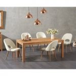 Verona 150cm Solid Oak Dining Table with Halifax Faux Leather Chairs