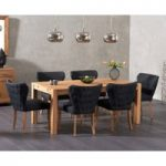 Verona 150cm Solid Oak Dining Table with Isobel Fabric Chairs