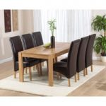 Verona 180cm Solid Oak Dining Table with Cannes Chairs