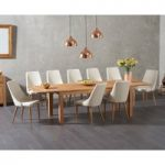 Verona 180cm Solid Oak Extending Dining Table with Ashford Fabric Chairs