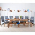Verona 180cm Extending Solid Oak Dining Table With Benches and Cannes Chairs